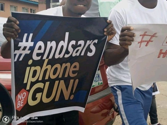 Photos Of End SARS Protest In Aba