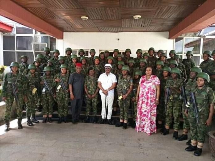 Photos Of Female Soldiers Deployed To Anambra To Restore Normalcy