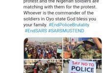 Photos Of Soldiers And Toyin Abrahim Protesting In Ibadan