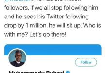 President Buhari Loses 100K Followers On Twitter As Reno Omokri Starts #unfollowbuhari