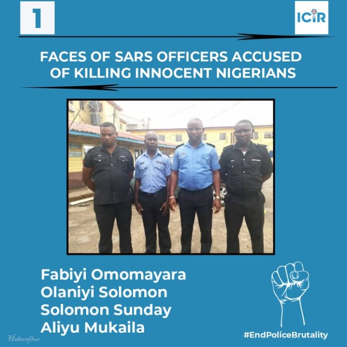 THEICIR Releases 9 Faces Of SARS Officers Accused Of Killing Innocent Nigerians