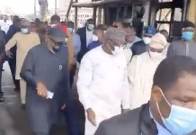 Video Of All The South West Governors And Ministers Visiting Locations Destroyed In Lagos During EndSARS Protest