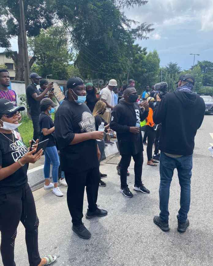 Video Of Don Jazzy Leading EndSARS Protest In Lagos
