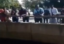 Video Of ENDSARS Protesters Throwing Money To Those Living Under Bridge Abuja