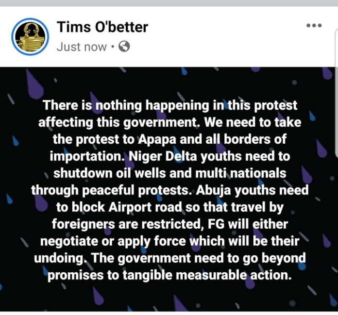 Video Of EndSARS Protesters Saying We Are Sleeping Over At CBN Headquarters In Abuja