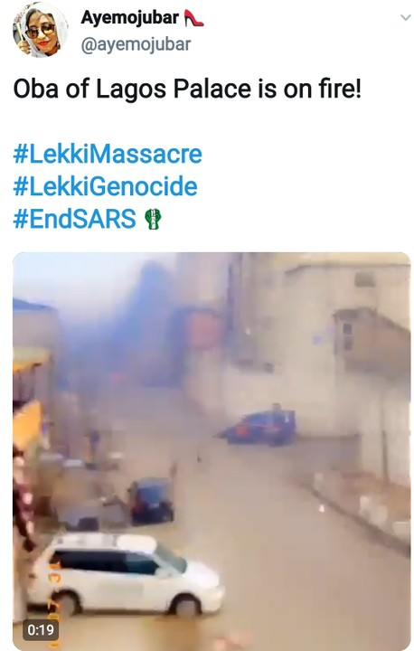 Video Of Oba Of Lagos Palace On Fire And His Staff Of Office Stolen