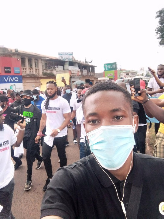 Video Of Phyno, Flavour And Others EndSARS Protest In Enugu