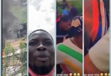 Video Of Police Officers Shooting At EndSARS Protesters In Ogbomosho Oyo State