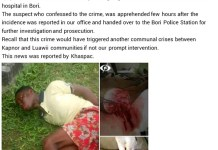 Young Man Francis Batambari Ambushed And Brutally Attacked By Four Persons In Rivers State