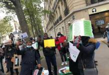 Young Nigerians In France On Friday Morning Joins EndSWAT Protest
