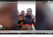 mark angel almost beaten on endsars ground