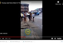 Video Of A Young Lady Who Suddenly Runs Mad After Visiting Boyfriend