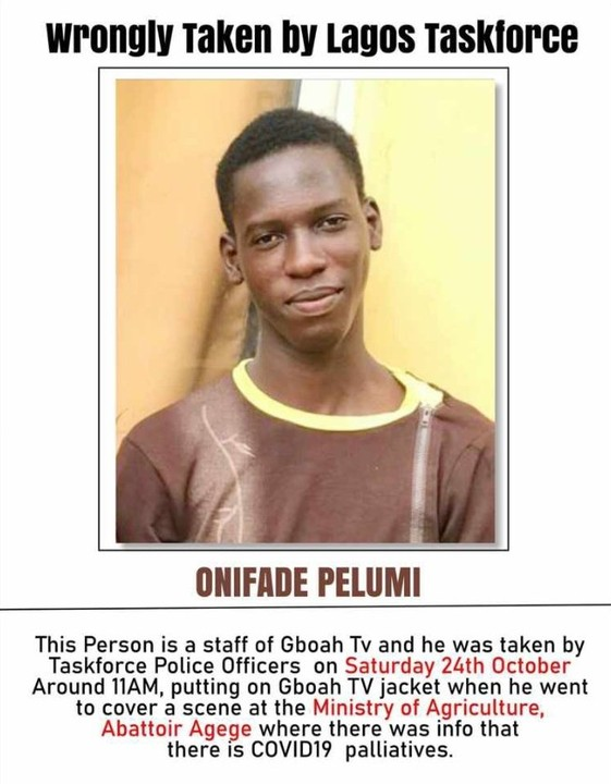 20 Year Old Nigerian journalist Pelumi Onifade Shot Dead By Police In Lagos During EndSARS Protest