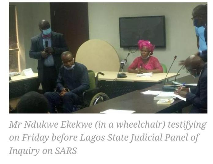 34 year Old SARS Victim Presents Photograph Of Officer Who Paralysed Him