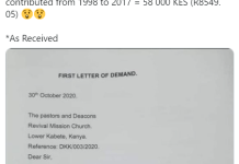 A Man Writes To Church To Ask For Refund Of Offerings He Has Been Giving From 1998 To 2017