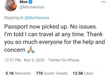 EndSARS promoter and lawyer Modupe Odele's passport returned and travel ban lifted after 9 days