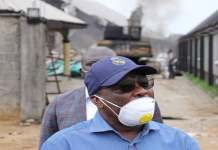 Governor Wike's Father's Church In Port Harcourt On Fire