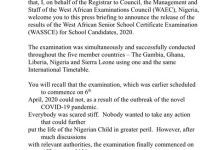 How to check your 2020 waec result-WAEC Releases SSCE 2020 Results