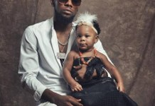 Nigerian Singer Patoranking shares adorable photos of his daughter Wilmer on his Instagram page