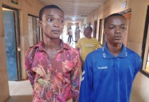 Two Boys Michael Hammed Azeez and Adeola Ogunseye Arrested For Kidnapping And Gang Raping A 14 Year Old Girl In Ogun