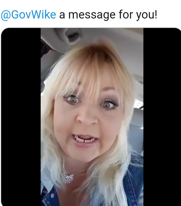 Video Of An American Susan Mount Who Calls Out Governor Wike Over Oyigbo Killings By Military
