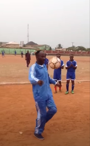 Video Of Apostle Johnson Suleman Showing Off His Football Skills