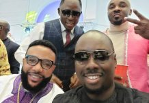 Video Of EMoney and Obi Cubana Spraying Money At Williams Uchemba's Wedding With Other Celebrities Present