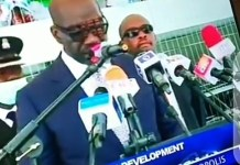 Video Of Edo State Governor Godwin Obaseki's ADC Collapsing At His Swearing-in Ceremony For 2nd Term