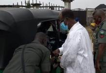 Former Rivers Deputy Governor Gabriel Toby And Wife, Christy Spotted Boarding Keke