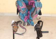 Photo Of A 16-Year-Old Female Bandit In Niger State Arrested By Police And Arms Recovered