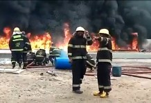 Video Of Petrol Tanker On Fire Along Lagos Airport Road