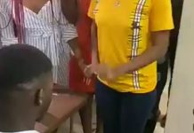 Video Of A Lady That Ran Mad While Trying To Accept Proposal Ring From Her Boyfriend