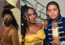 Video showing Davido with American rapper, Young M.A's ex, Mya Yafai as they hold hands