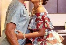 Omoni Oboli responds to a follower Criticizing her for kissing RMD on TV as a married woman
