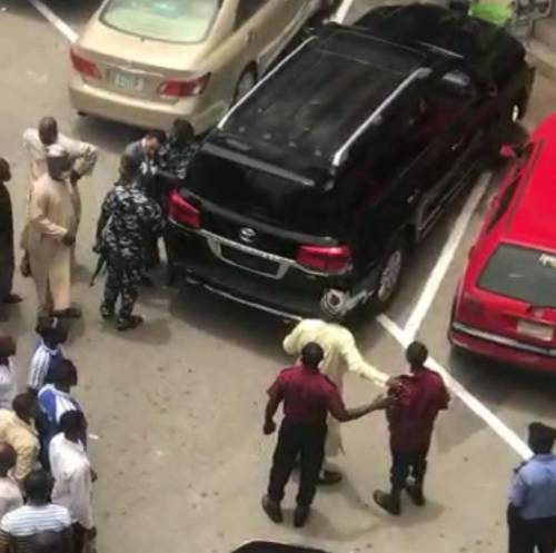 Video Of CCT Chairman Justice Umar Kicking A Security Guard At Abuja Plaza