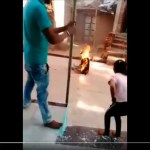Video Of A Man On Fire After A Gas Stove Exploded In India.