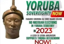 Posters And Flyers Of No Election In Yoruba Land In 2023
