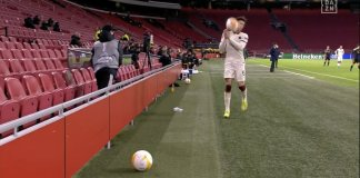 Video Of The Moment Ajax Ball Boy Throws Ball Angrily At Roma Player For Time Wasting
