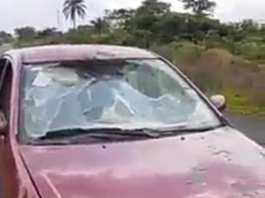 Soldiers In Imo Vandalizes A Lawyer's Car Over Biafran Flag