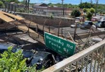 Many People Injured As A Pedestrian Bridge Collapses Onto Washington DC Highway