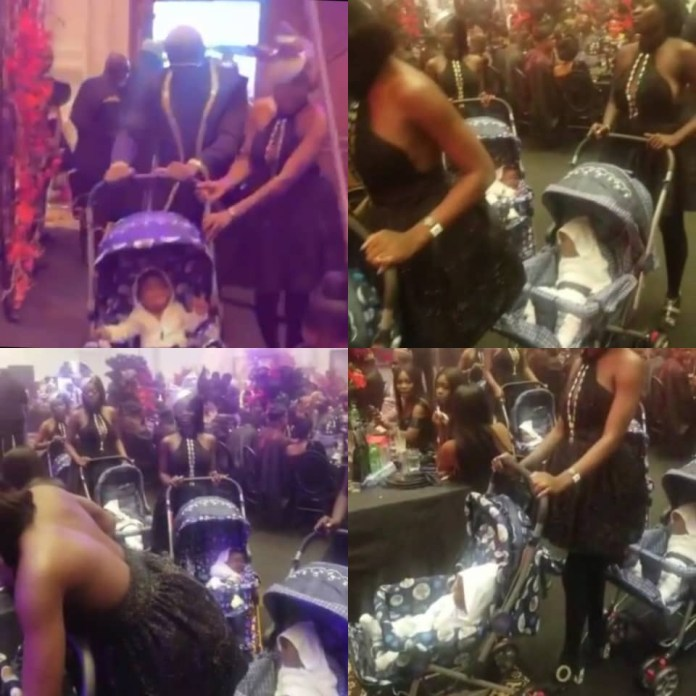 Video Of Prettymike With Ladies Pushing Baby In Each Of The Strollers In Toyin Lawani's Wedding