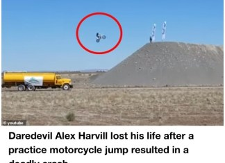 Video Of Stunt Rider Alex Harvill Who While Died Attempting World-Record Motorcycle Jump