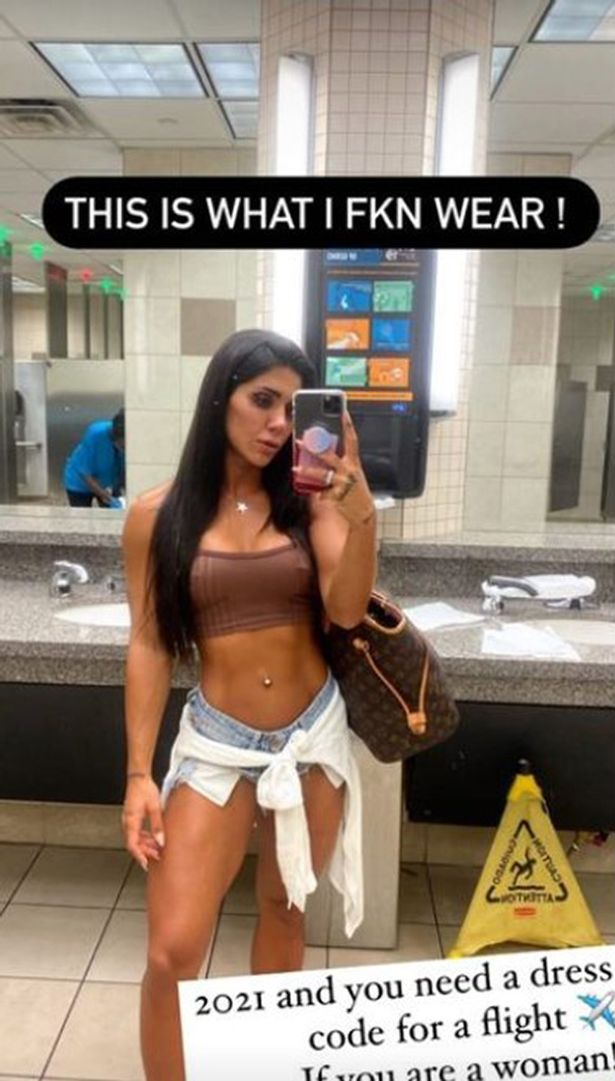 A Fitness Model Deniz Saypinar Stopped From Boarding A Plane For Wearing Half Naked Cloths