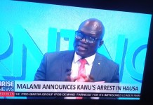 Malami Announces Kanu's Arrest In Hausa And Later In English During A Press Conference