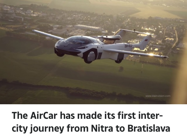 Video Of Flying Car Completing Its First Trip In The Sky