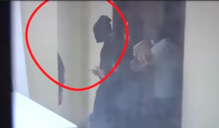 Video Of How Nnamdi Kanu Was Taken To Court With A Hood Covering His Face By DSS