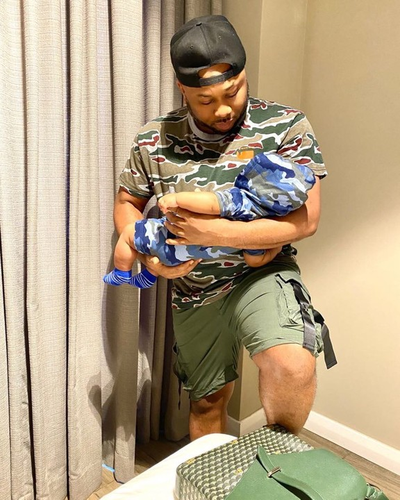 Video Of Olakunle Churchill, Tonto Dikeh's ex Changing Diaper of His Baby With Rosy Meurer - Daddy Duties
