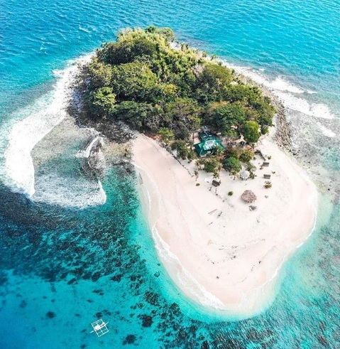 Brother Island in the Philippines is a popular and cheap private island rental