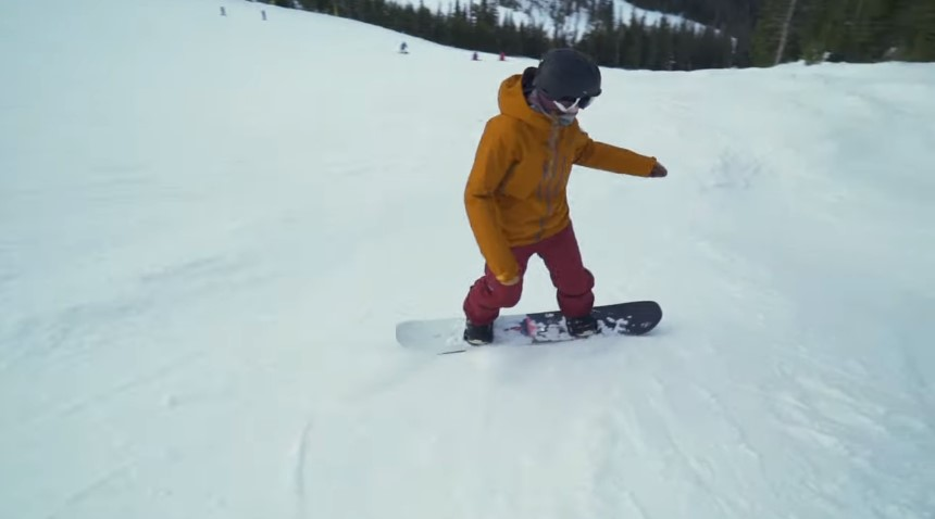 Beginners to snowboarding should always take lessons to get started