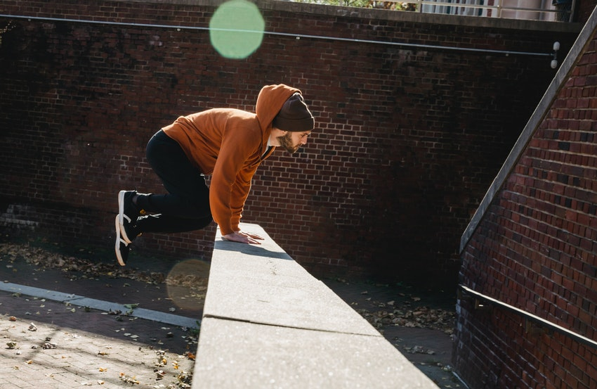 Parkour or free running is a solo sport you can do anywhere